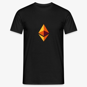 Ethereum Logo (Orange) - Männer T-Shirt