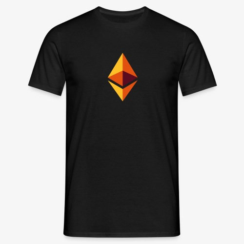Ethereum Logo (Orange) - Männer T-Shirt