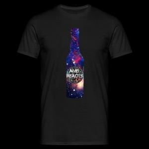 Space beer bottle logo - Men's T-Shirt