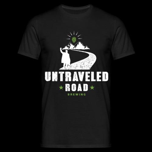 Untraveled Road Logo - weiß - Männer T-Shirt