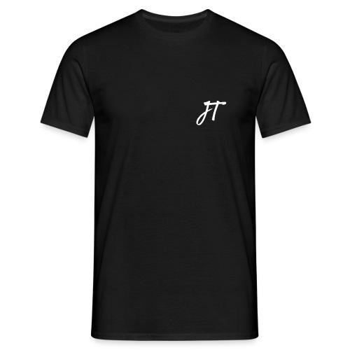 Embroided JT (Josh Trends) T-Shirt White - Men's T-Shirt