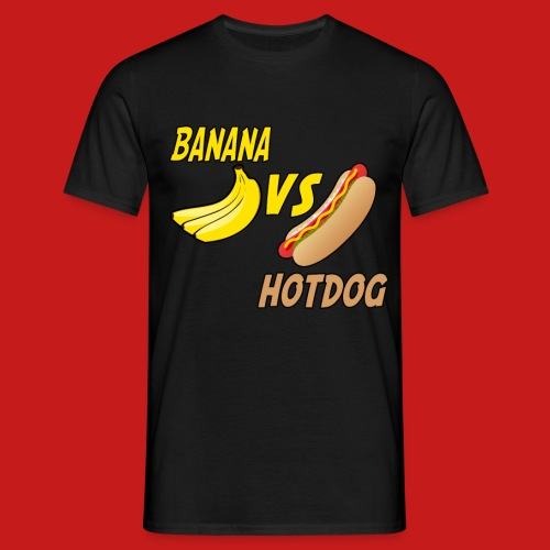 BANANA VS HOTDOG DESIGN T-SHIRT - Men's T-Shirt