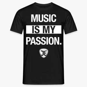 MUSIC IS MY PASSION. – Jan-Luca Ernst & Band - Männer T-Shirt