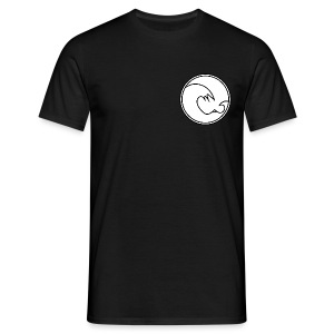 201 604 Wave Logo (Black / White) - Men's T-Shirt