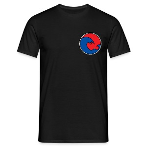 201 605 Wave Logo (PADI Red / Blue PADI) - Men's T-Shirt