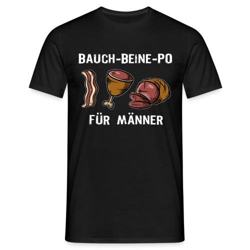 Bauch-Bein-Po - Für Männer, Grillfleisch VS Sport - Männer T-Shirt