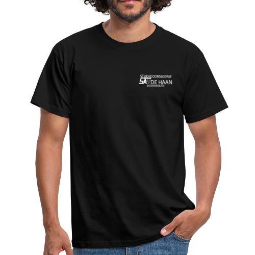 SAH DE HAAN LOGO [wit] - Mannen T-shirt