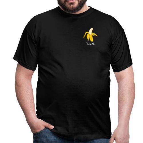 Y.A.M. LOGO Zwart - Mannen T-shirt