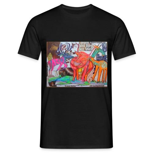 Die Schweiz und der Zoo Zürich Stripparade - Männer T-Shirt