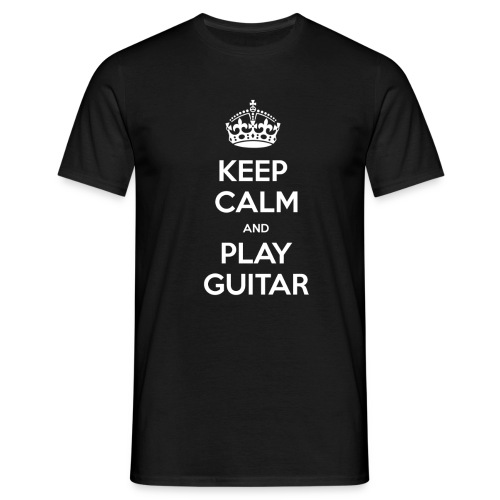 Keep Calm And Play Guitar - Maglietta da uomo