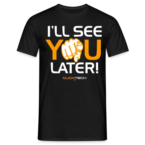 ClickTech UK See You Later Orange White - Men's T-Shirt