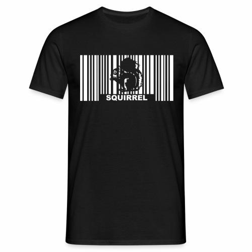 Eichhörnchen Barcode - Männer T-Shirt