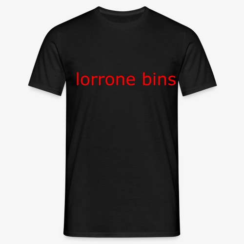lorrone bins simple - Men's T-Shirt