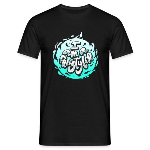 Blue / Black - Men's T-Shirt
