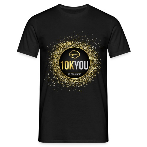 10k You! 10000 times thank you to ORGanusers! - Men's T-Shirt
