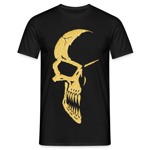 Motiv T Shirt Skull 1 Gold - Männer T-Shirt