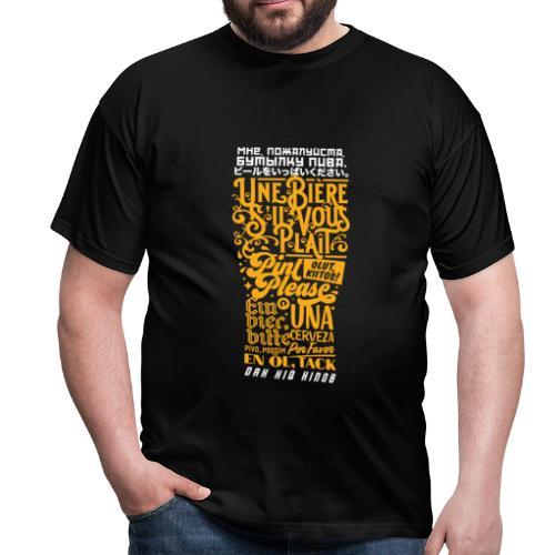 Pint Please Beer App - Multilingual Pint - Men's T-Shirt