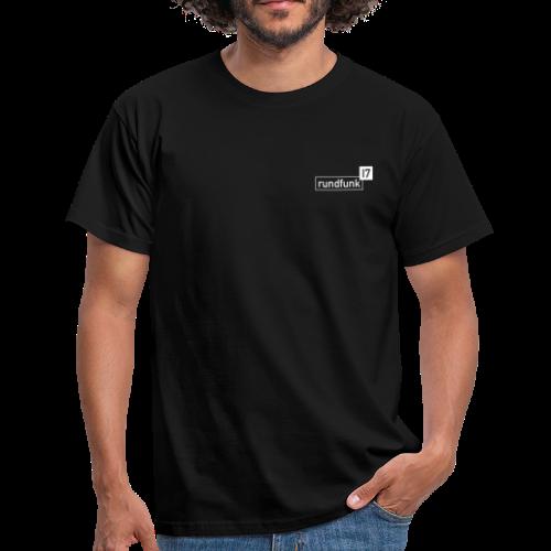 rundfunk17 Logo weiß - Männer T-Shirt