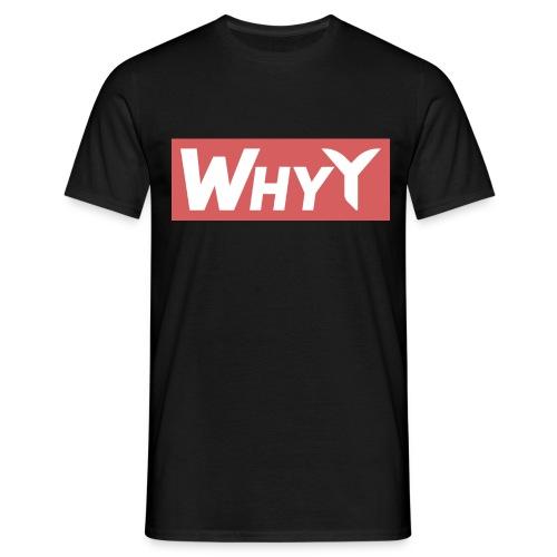 Block Red | WhyY - Men's T-Shirt