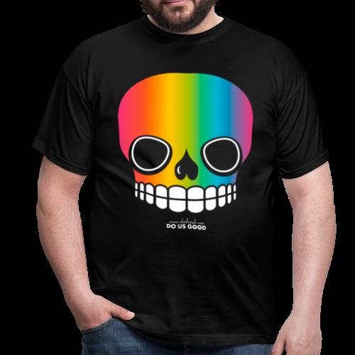 JUST SKULL rainbow - Miesten t-paita