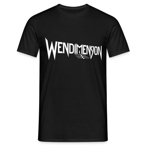 wendimension logo white - Miesten t-paita