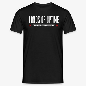Lords of Uptime typo - Männer T-Shirt