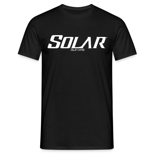 Solar Guitars Word White - Men's T-Shirt