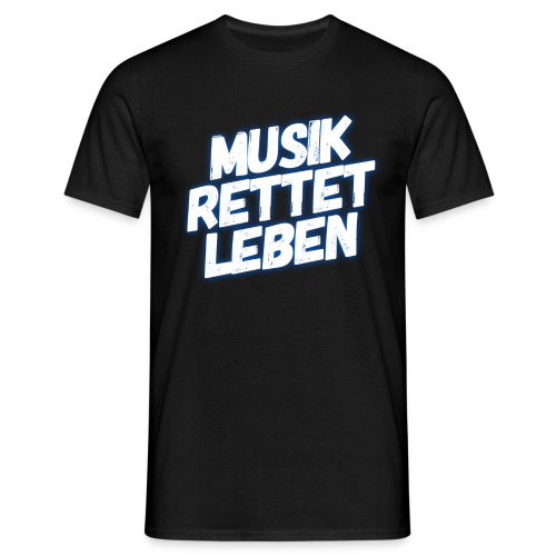 MUSIK RETTET LEBEN LOGO BLAU - Männer T-Shirt