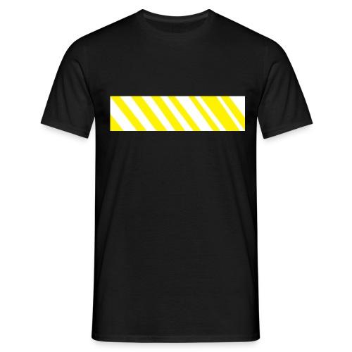 Gelbes Zebra - Männer T-Shirt