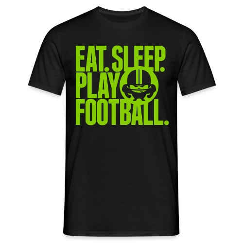 EAT. SLEEP. PLAY FOOTBALL. GREEN/BLACK - Männer T-Shirt