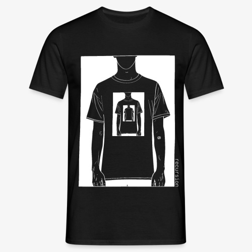 Recursion inverted | Geek | Art | Loop | - Men's T-Shirt