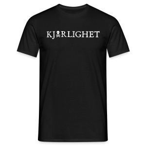 Kjærlighet (Love) | White text - Men's T-Shirt
