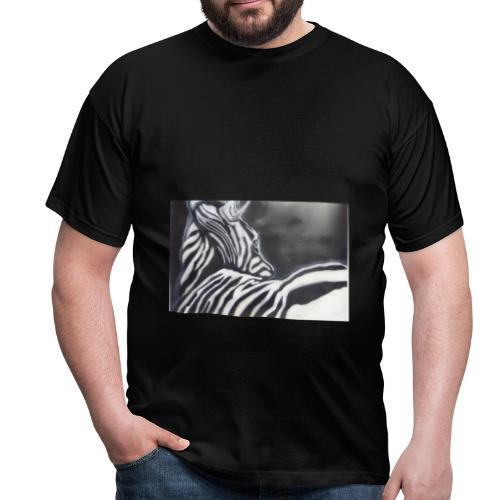 creation zebre fait main - T-shirt Homme
