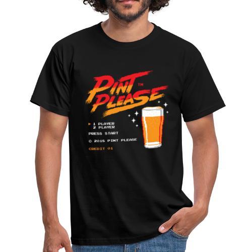 Pint Please Beer App - 8-bit Game Logo - Men's T-Shirt