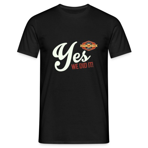 YES-we did it_white - Männer T-Shirt