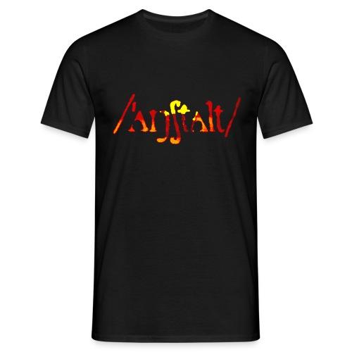 logo gerastert (flamme) - Männer T-Shirt