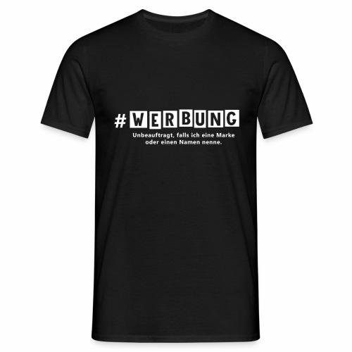 Hashtag Werbung weiss - Männer T-Shirt