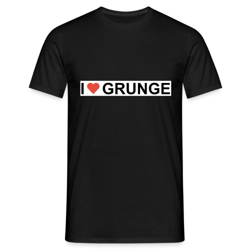 I LOVE GRUNGE - Herre-T-shirt
