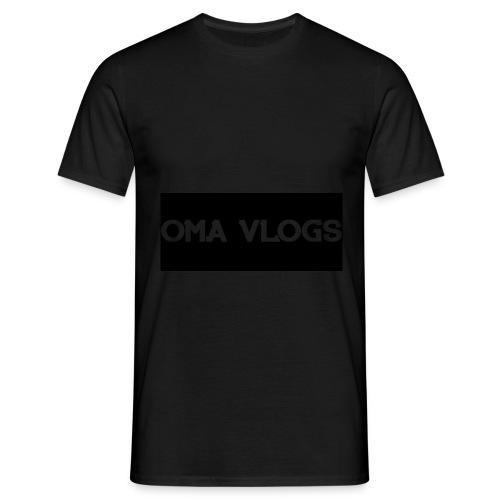 Oma Vlogs Black Logo - Men's T-Shirt