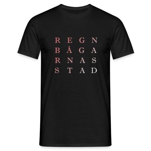 REGNBÅGARNAS STAD - T-shirt herr