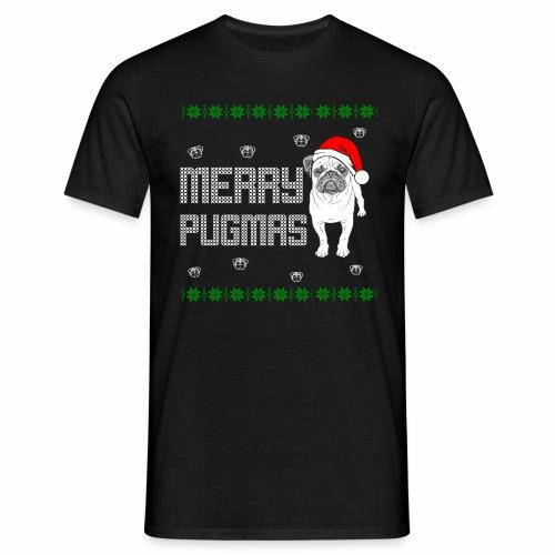 Merry Pugmas - Männer T-Shirt