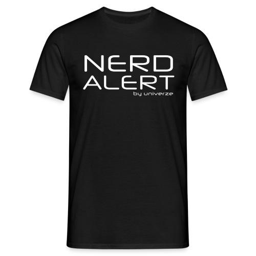 Nerd Alert - Sort - Herre-T-shirt