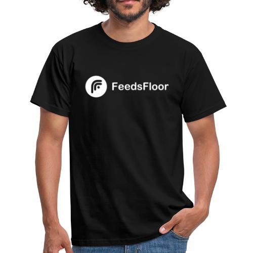 FeedsFloor Horizon - white logo - Men's T-Shirt
