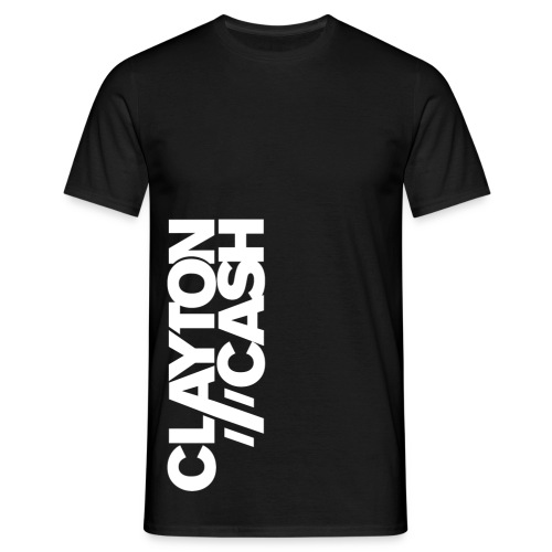 Clayton Cash Black/White Flipped - Mannen T-shirt