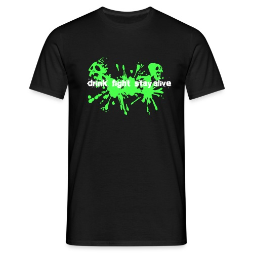 Drink Fight Stay Alive - T-shirt herr