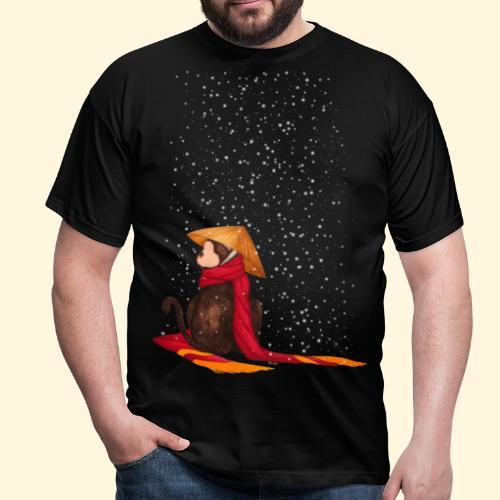 Un singe en hiver sous la neige - T-shirt Homme