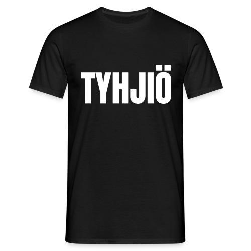 TYHJIÖ Logo White - Men's T-Shirt