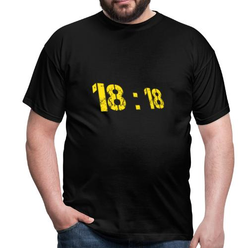 18:18 Yellow - T-shirt Homme