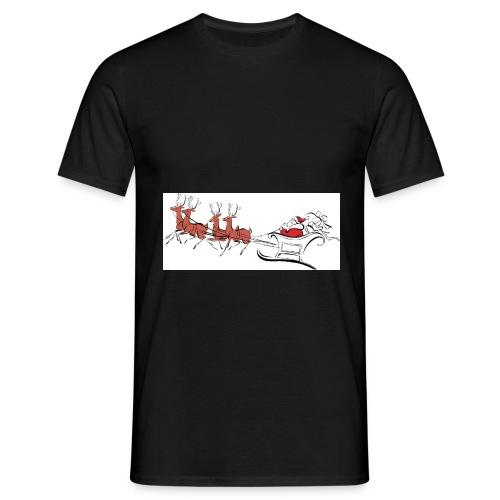 pictures-of-santa-and-reindeer-UDuZhz-clipart - Men's T-Shirt