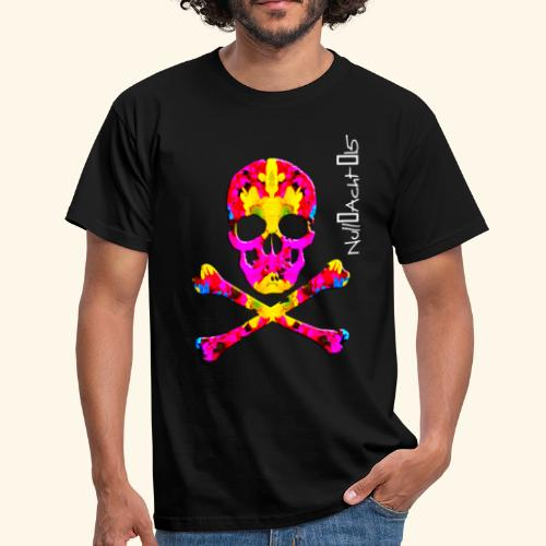 skull with white type - Männer T-Shirt